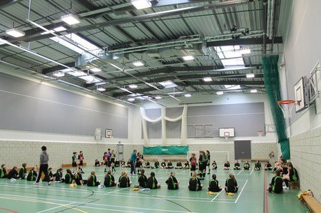 Acoustic treatment for sports halls