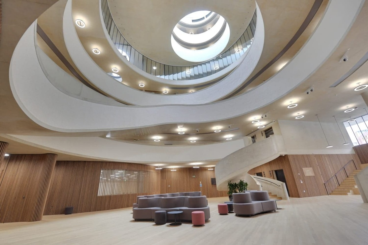 SonaSpray FC - Environmentally friendly sound absorbing spray installed in Blavatnik School of Government