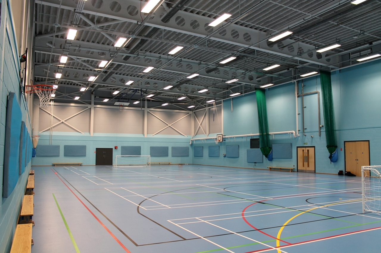 Evo-Panel - Acoustic wall panels installed in a sports hall