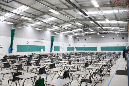 Sports hall acoustics noise control