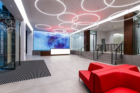 Office reception acoustics - No.1 Mabledon Place